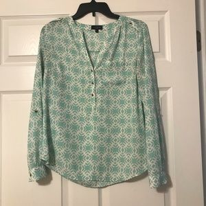 The Limited Mint and White Work Shirt